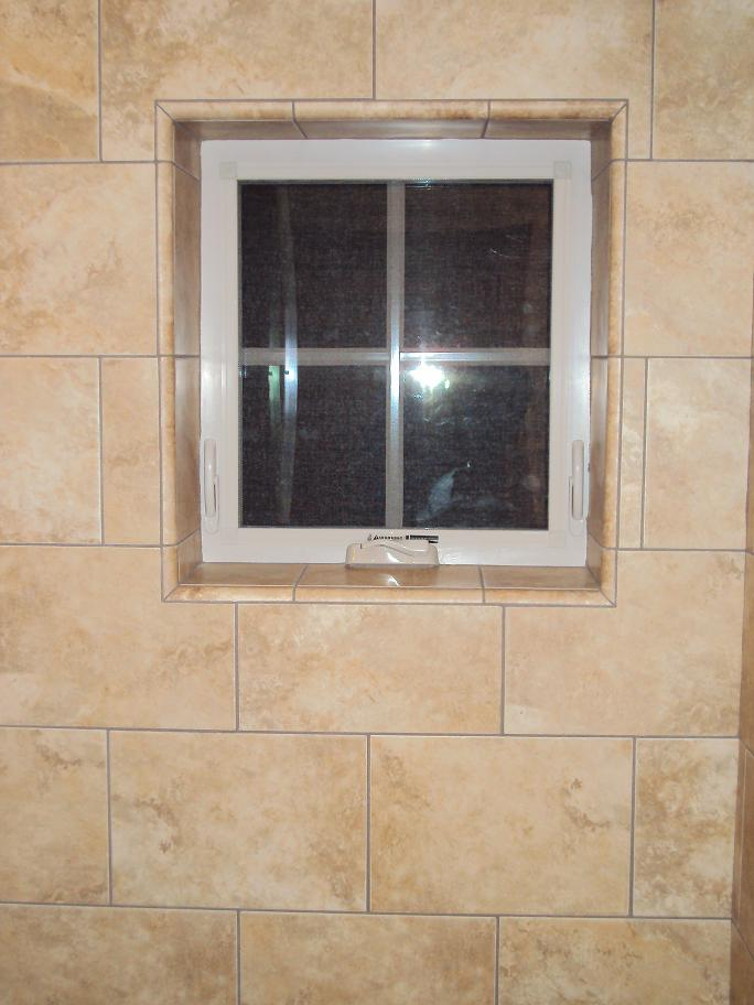 Tiled Window Jamb And Trim In Shower