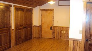 Commercial remodel with custom woodwork